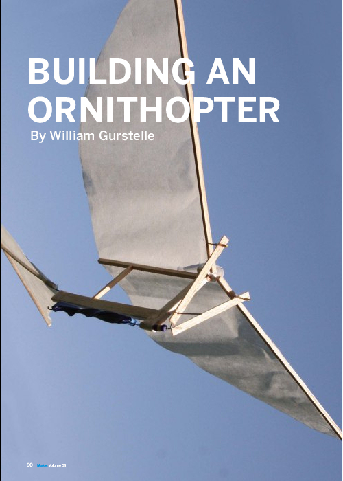 Weekend Project Build An Ornithopter Pdf Make