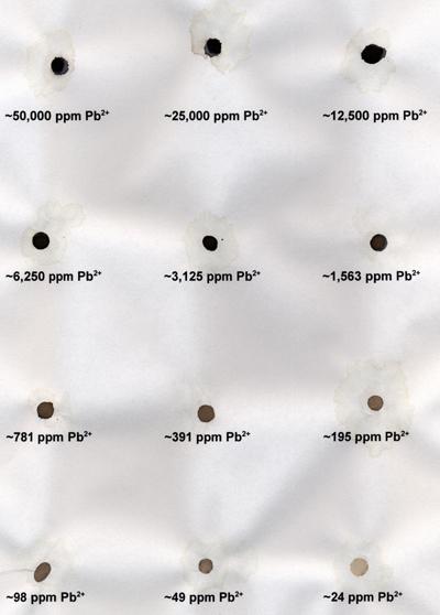 Lead sulfide spots