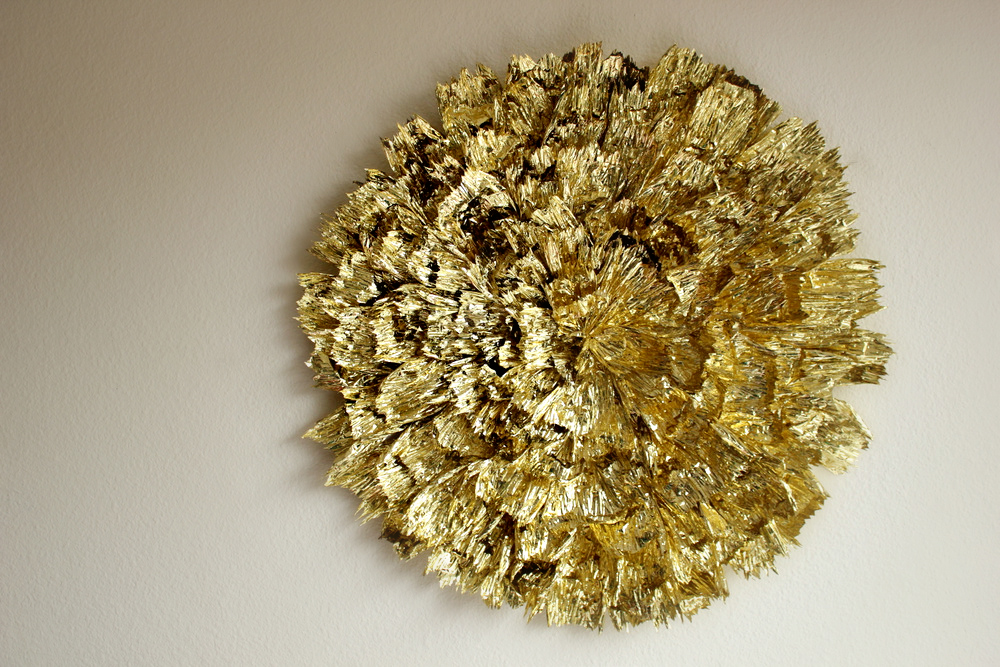 Gold R Wall Decor : Gold statement wall piece make