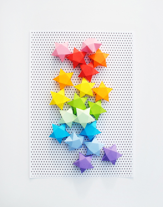How to cut and fold paper stars make for How to make a big paper star
