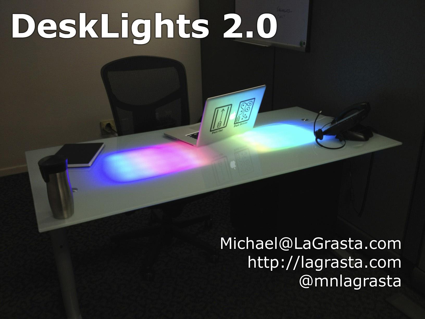 World Map Glass Desk Ikea. DeskLights 2 0  Make