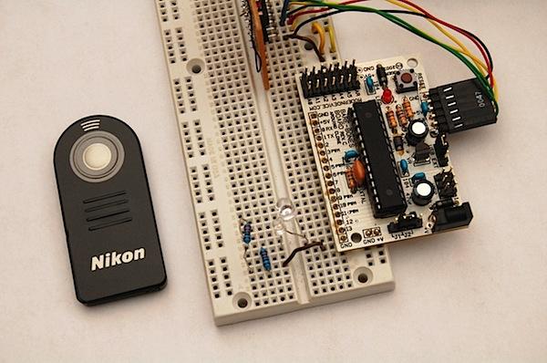Arduino nikon infrared intervalometer make