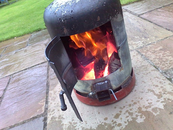 How to gas bottle wood burner make for How to make a small stove