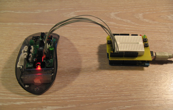 Creating an optical mouse cam with arduino make