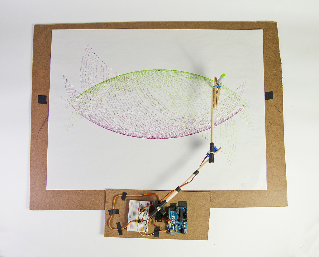 Arc O Matic An Arduino Controlled Art Bot Make