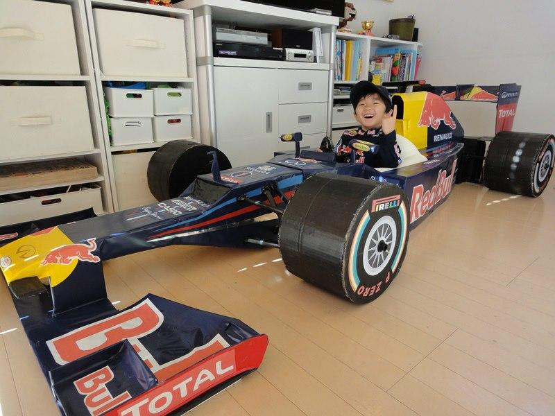 Making A Red Bull F1 Car With Cardboard Make
