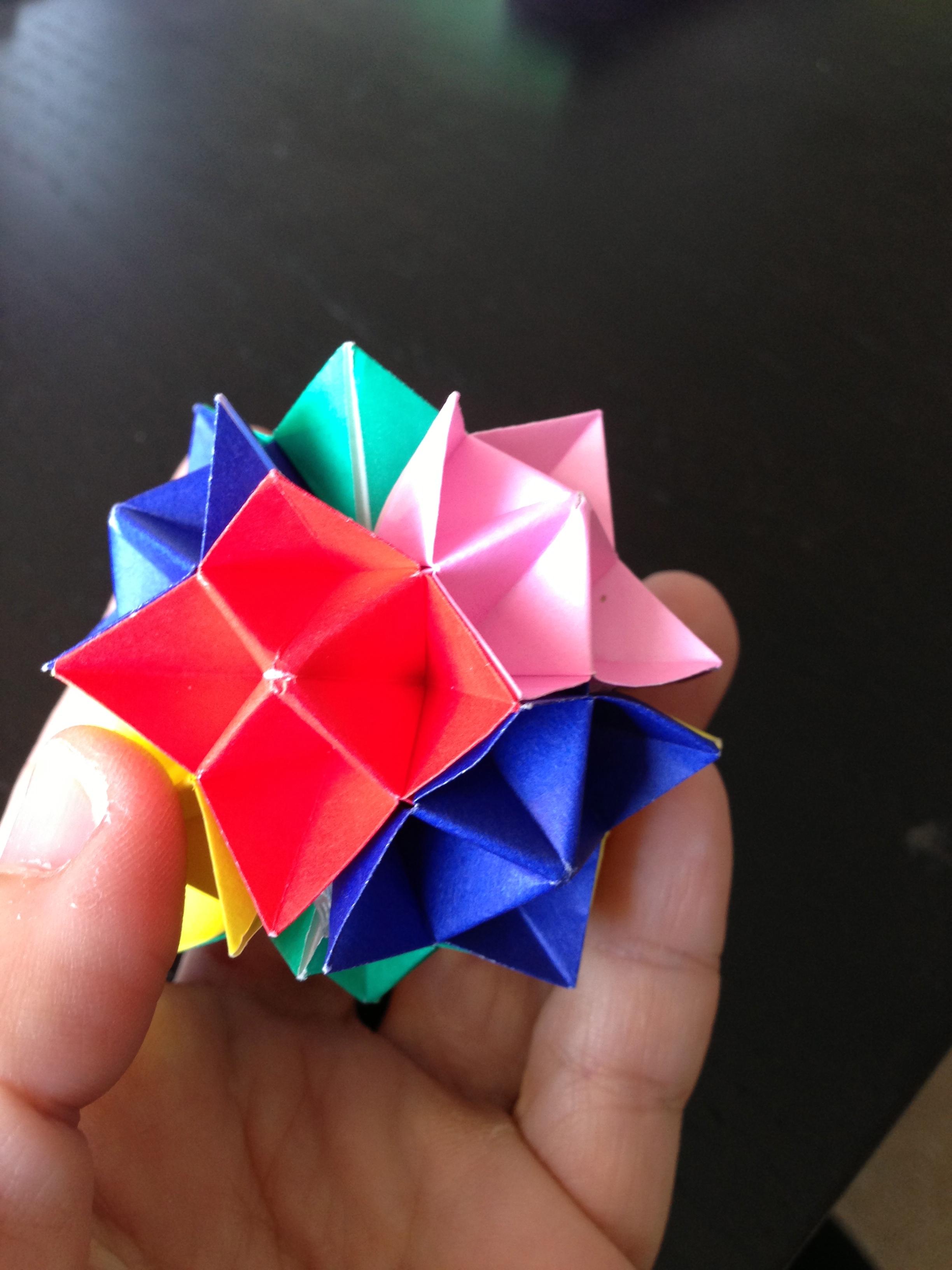 origami spike ball make