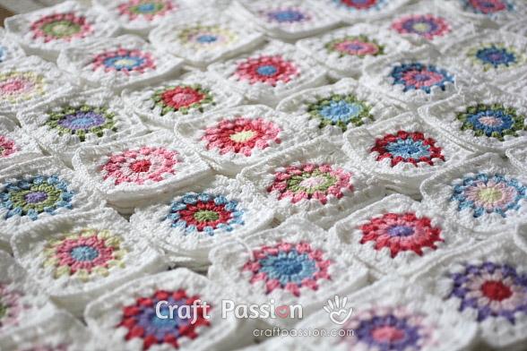 Crochet Tip Scrap Yarn Granny Square Color Combination