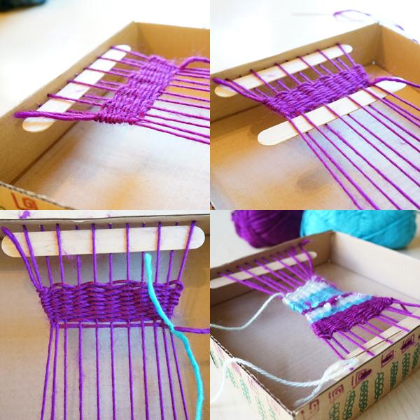 Simple Cardboard Box Loom