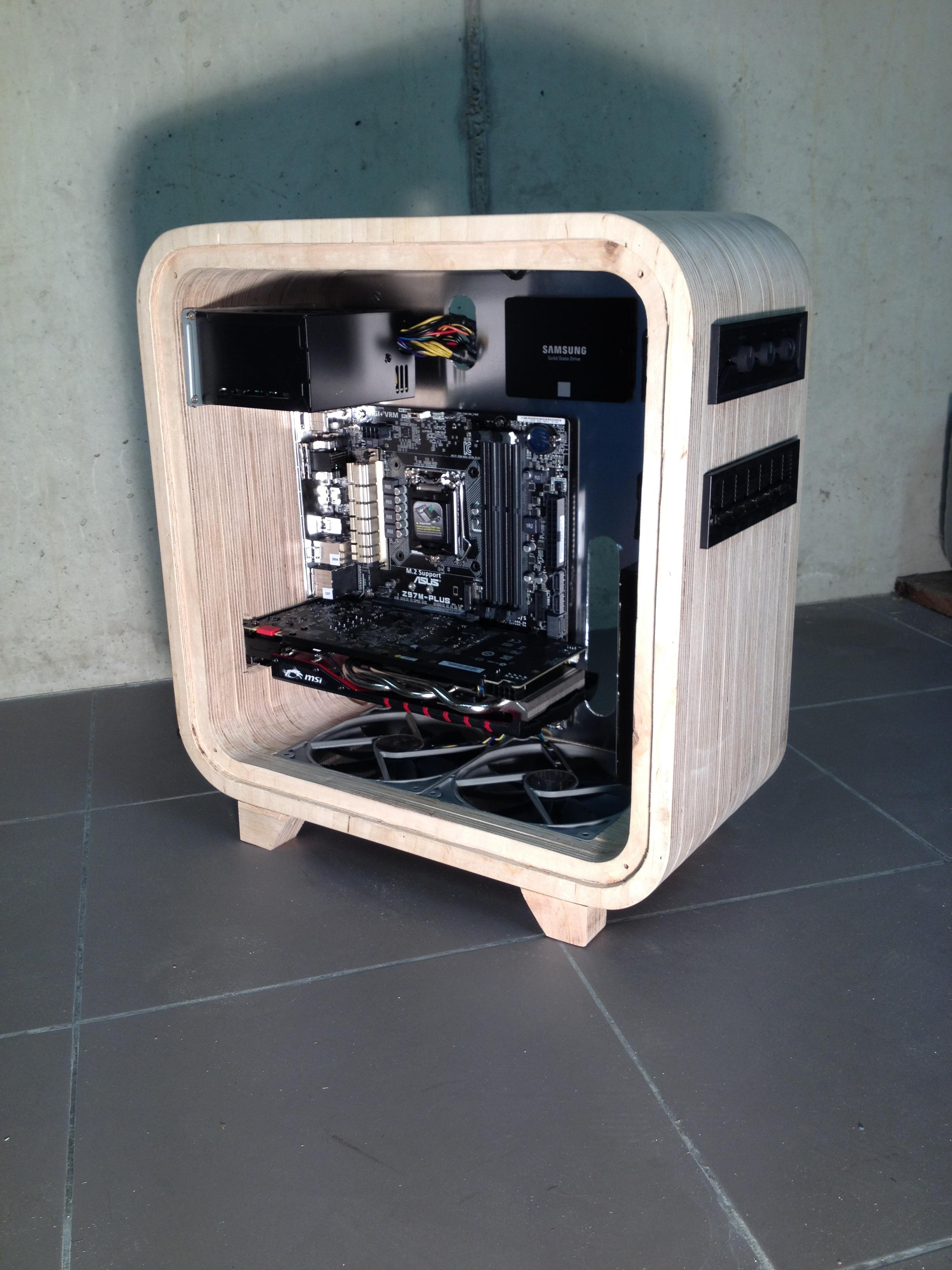 Ditch The Aluminum For An Elegant Wooden Computer